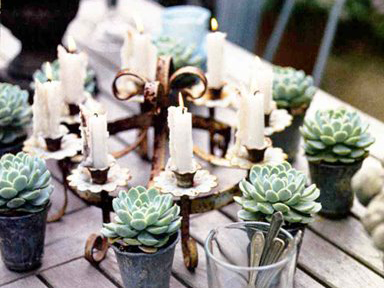 rustic candelabra wedding